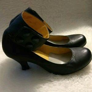 Jeffrey Campbell Black Ankle Strap Soft Leather